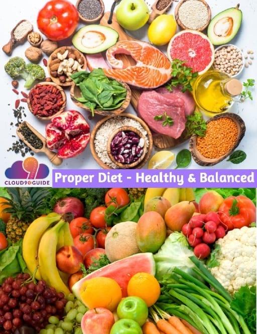 Proper Diet - Healthy, Balanced Diet - Cloud 9 Guide